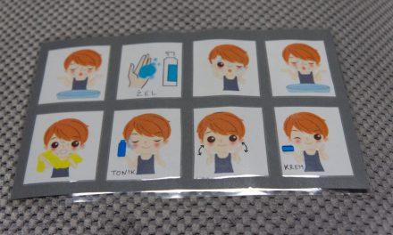 Schemat mycia twarzy